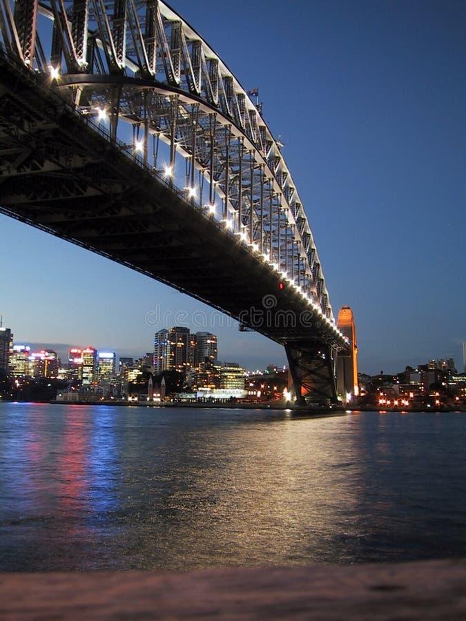 Brohamnsolnedgång Sydney Royaltyfri Foto