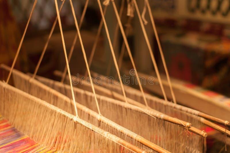 Brokaat het spinnen in Nanjing, China stock foto