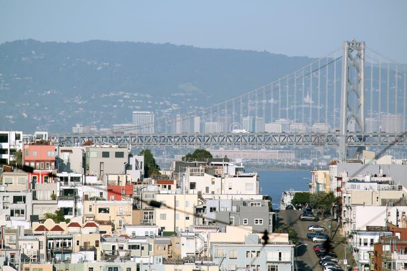 broKalifornien francisco port guld- san arkivbilder