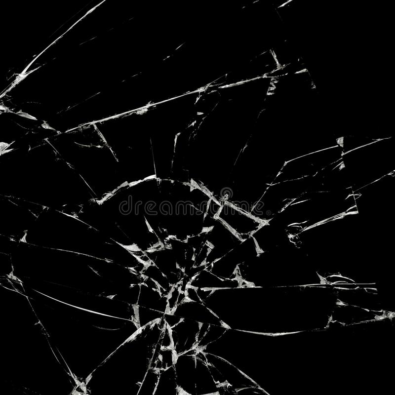 Broken black glass background texture. Abstract. Background royalty free stock photography