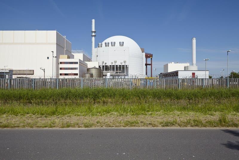 Brokdorf (Niemcy) - elektrownia jądrowa obraz stock