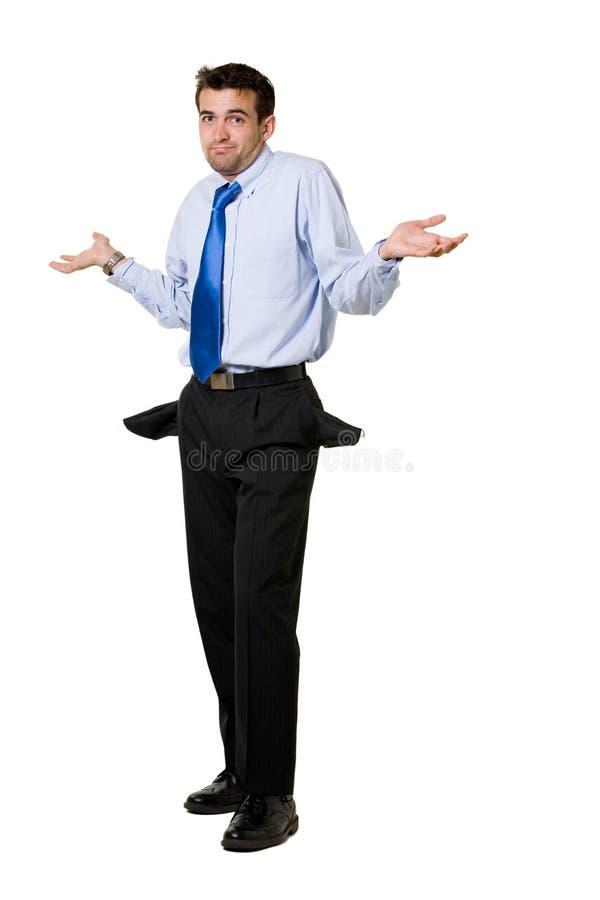Broke business man stock images