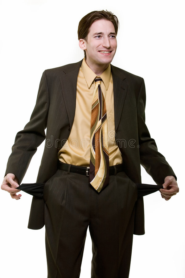 Broke business man royalty free stock photography