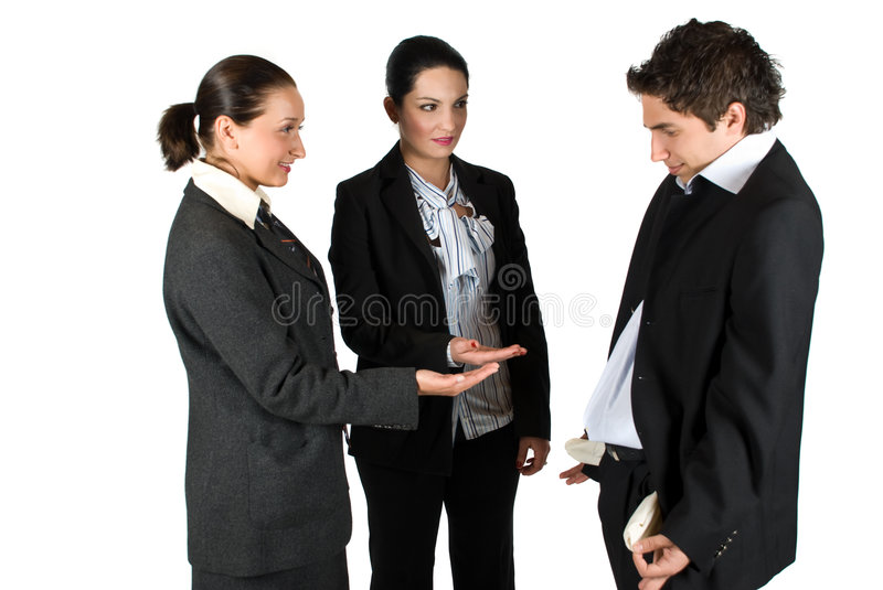 Broke business people royalty free stock image