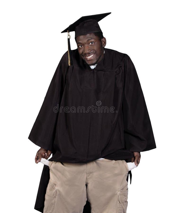 Broke Graduate royalty free stock photo