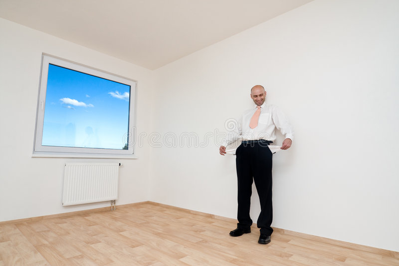 Download Broke Man stock photo. Image of caucasian, standing, showing - 6398974