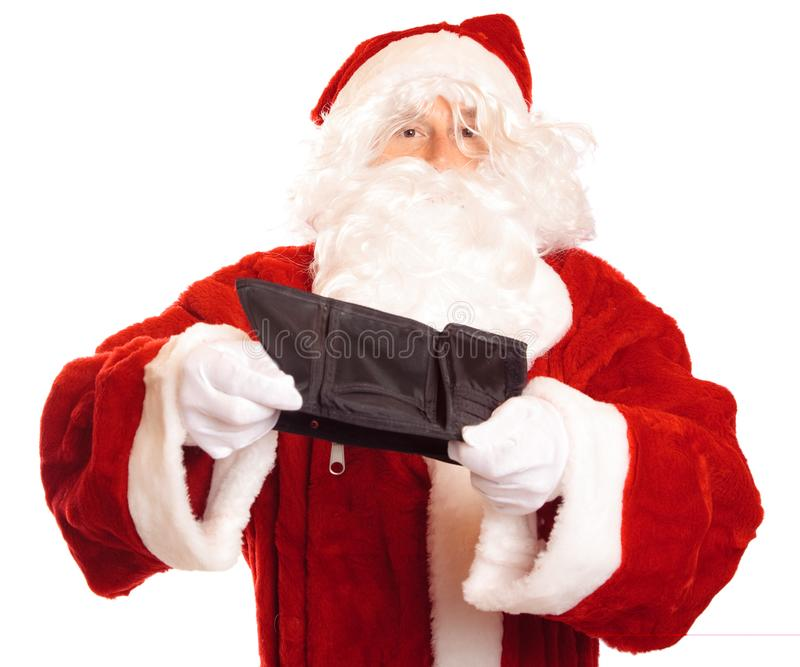 Broke Santa Affected By The Economic Crisis royalty free stock photography