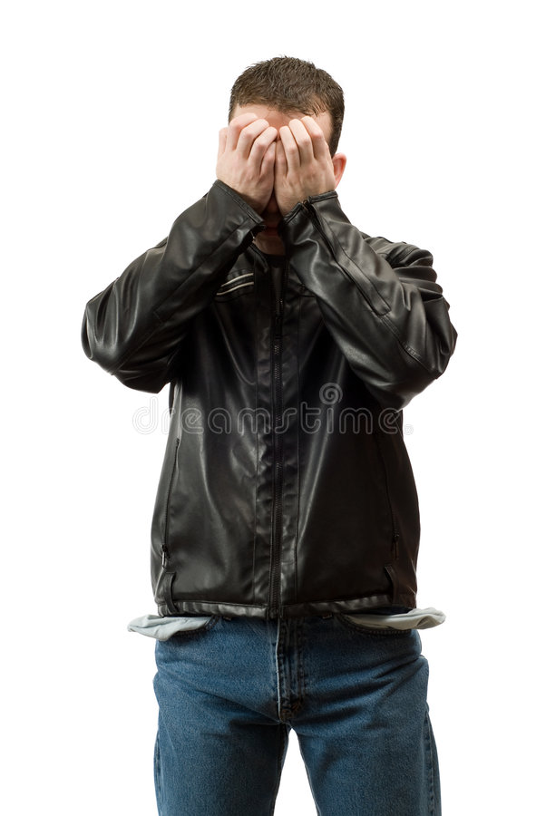 Download Broke Unemployed Man stock photo. Image of empty, failure - 8499160