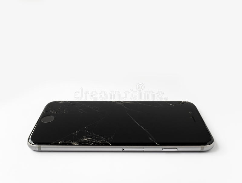 Download Broken Apple IPhone 6 With Cracked Screen Editorial Stock Photo