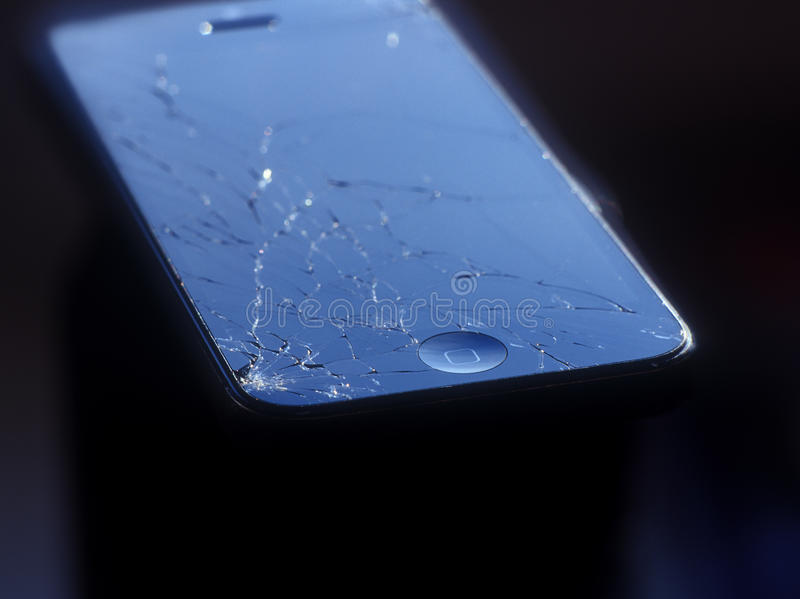 Download Broken Apple Mobile Device. Editorial Photography - Image: 34146207