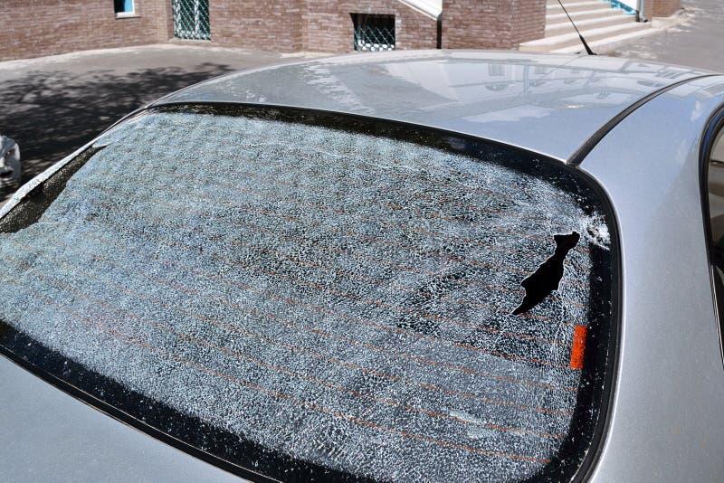 broken bakre fönster fotografering för bildbyråer