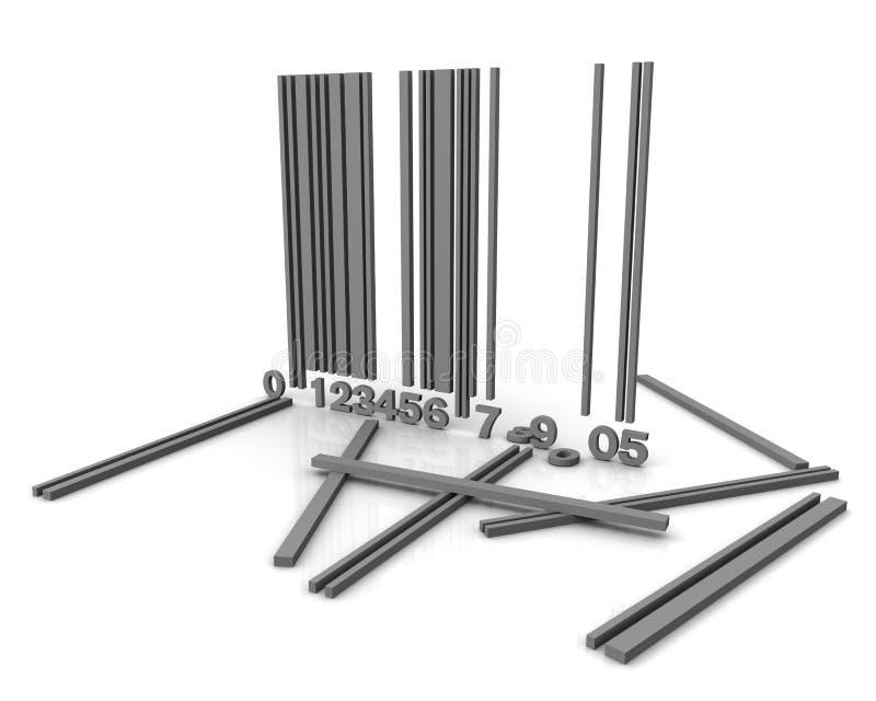 Broken bar code royalty free illustration