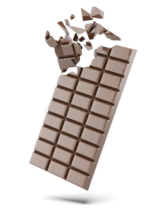 Free Broken Bars Of Chocolate Royalty Free Stock Images - 30796769
