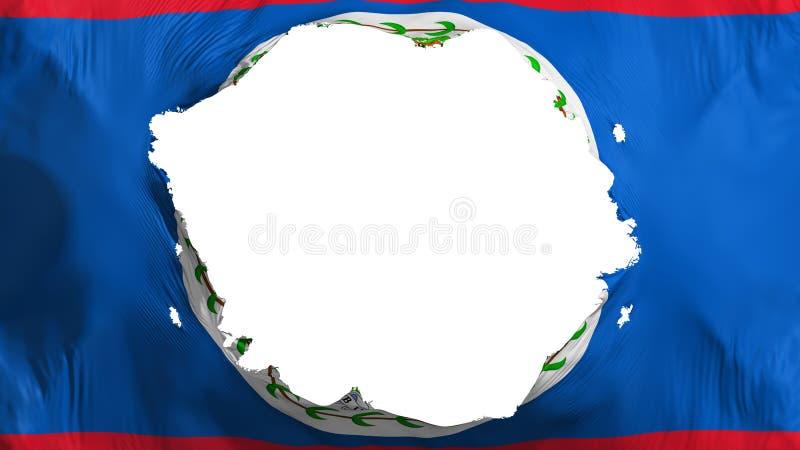 Broken Belize flag. White background, 3d rendering royalty free illustration