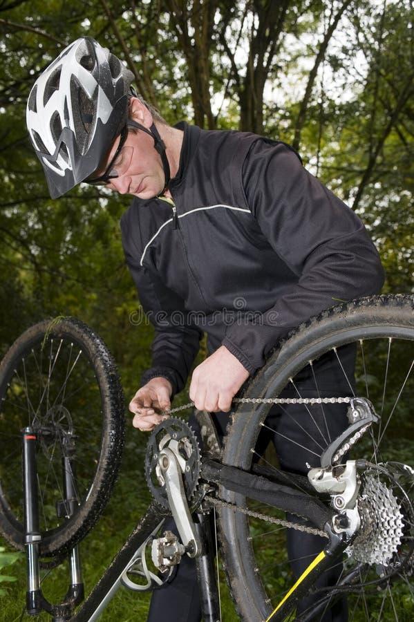 Broken bicycle royalty free stock image