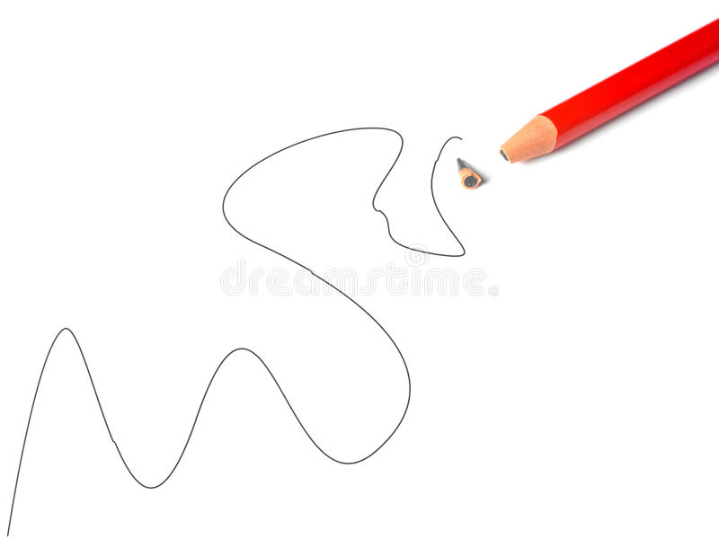 broken blyertspenna royaltyfri bild