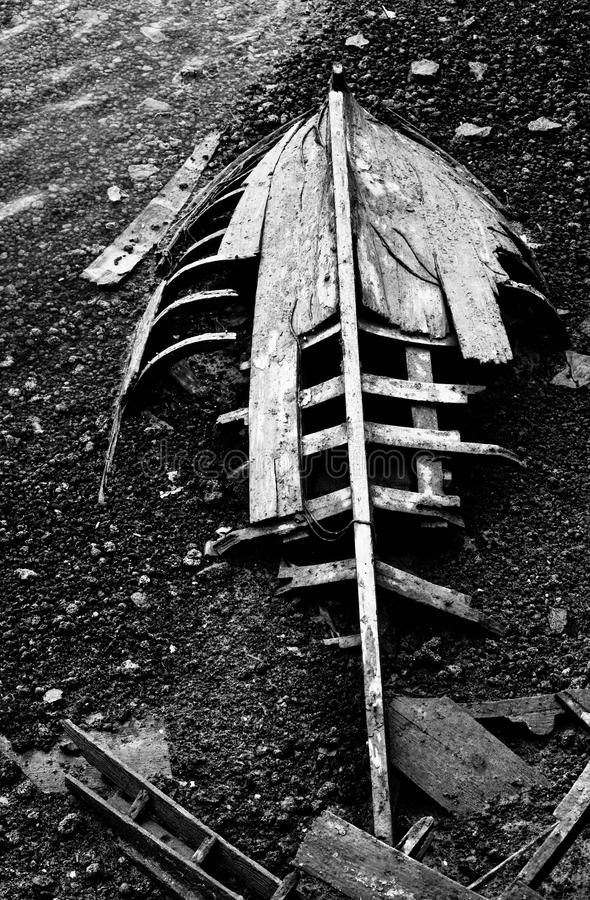 Download broken boat black and white stock photo image of boat detail 41786672