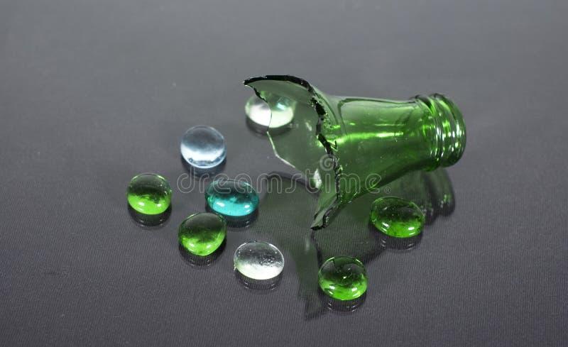 Broken bottle royalty free stock photo