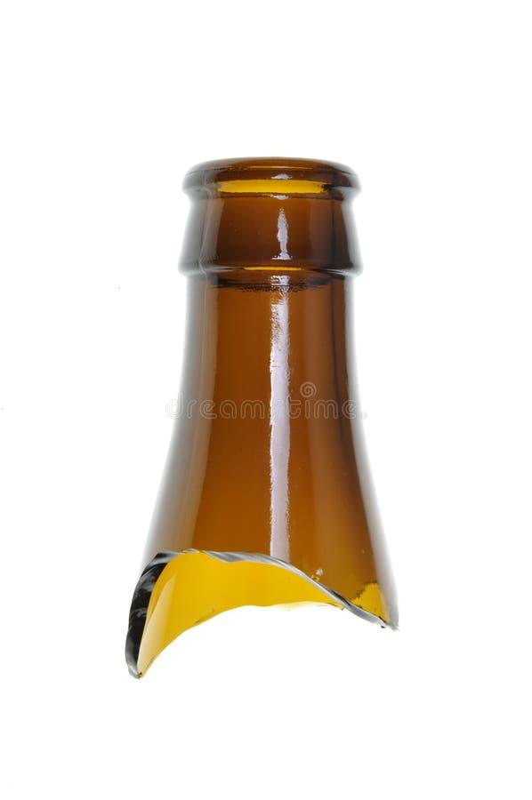 Broken bottle stock image