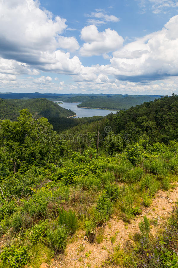 Broken Bow Lake in Oklahoma. View of Broken Bow Lake in Oklahoma, USA stock photography