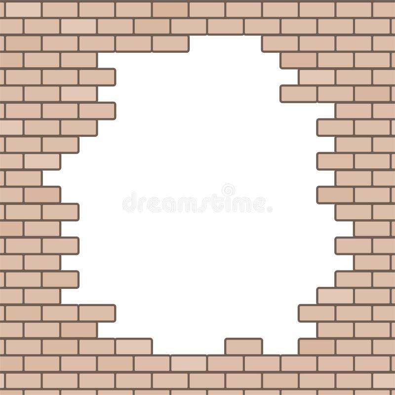 Download Broken Brick Wall Background Stock Vector