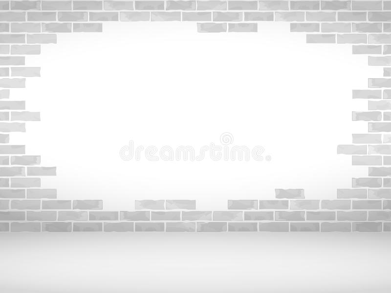 Broken Brick Wall stock illustration