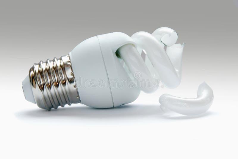 Broken bulb stock photography