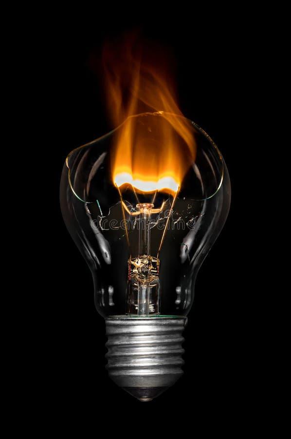 Broken Bulb - Bournout royalty free stock image
