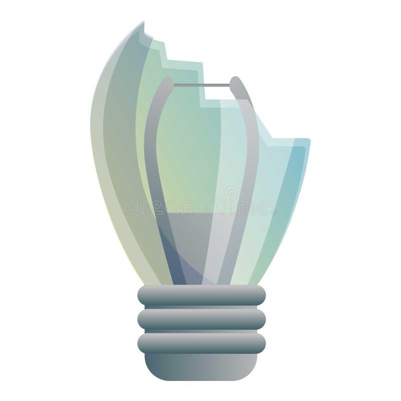 Broken bulb icon, cartoon style. Broken bulb icon. Cartoon of broken bulb vector icon for web design isolated on white background vector illustration