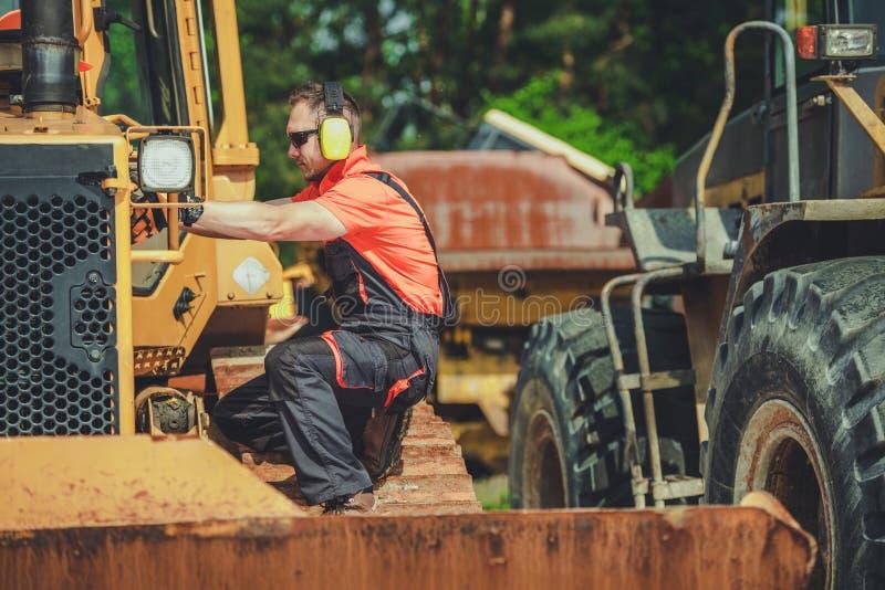 Broken Bulldozer Issue stock photography