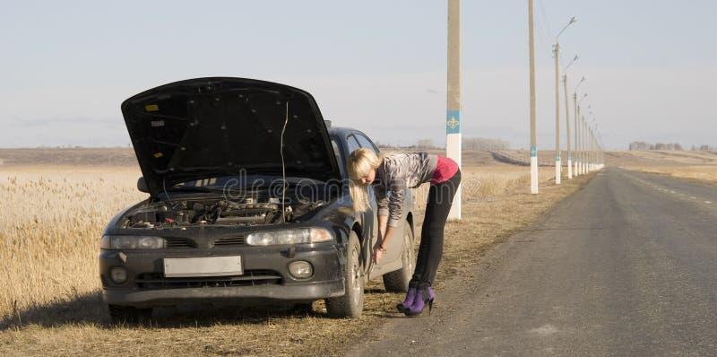 Broken car royalty free stock photos