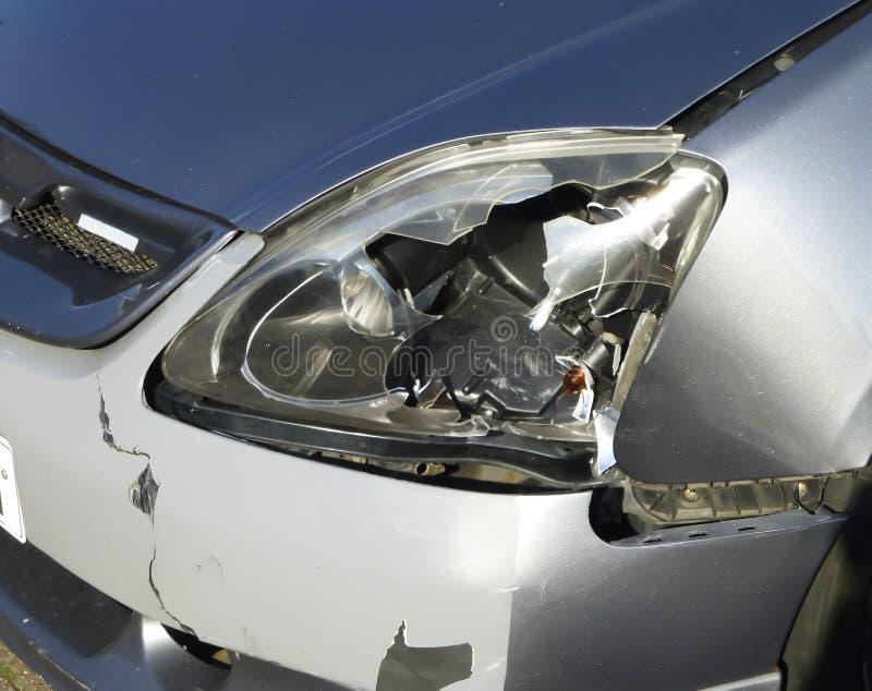 Broken car Headlight stock images