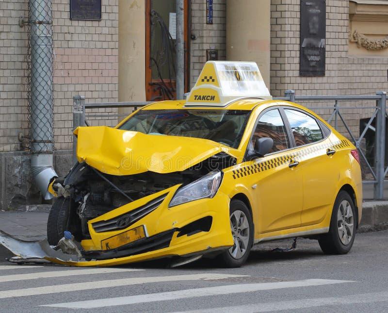 Broken car taxi royalty free stock photos