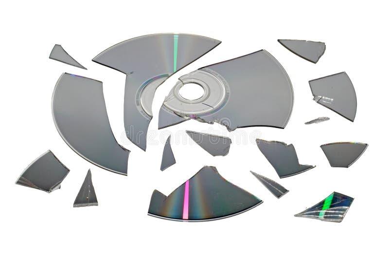 broken cd royaltyfria foton
