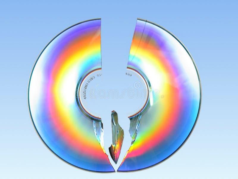 Broken CD stock image