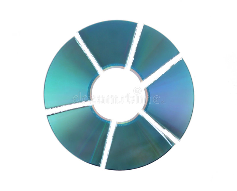 Broken cd stock photography