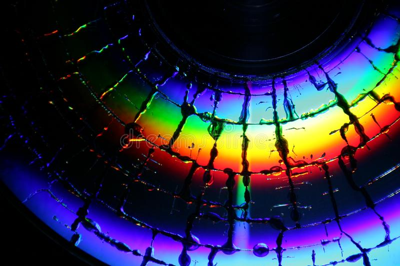 Broken Cd Surface Free Stock Images