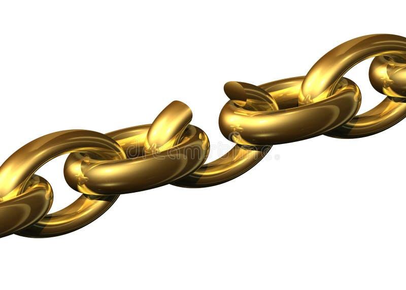 Broken chain royalty free illustration