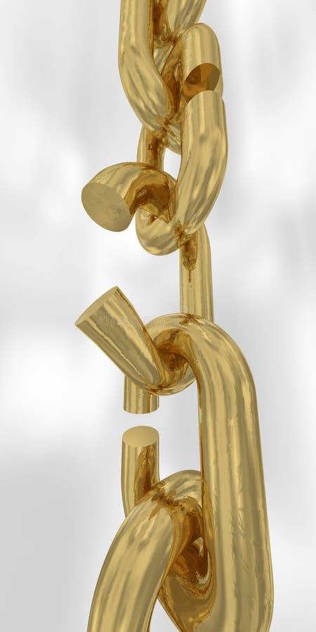 broken chain guld- royaltyfria foton