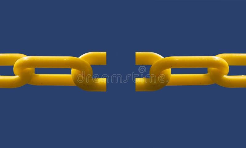 Broken chain link stock photos