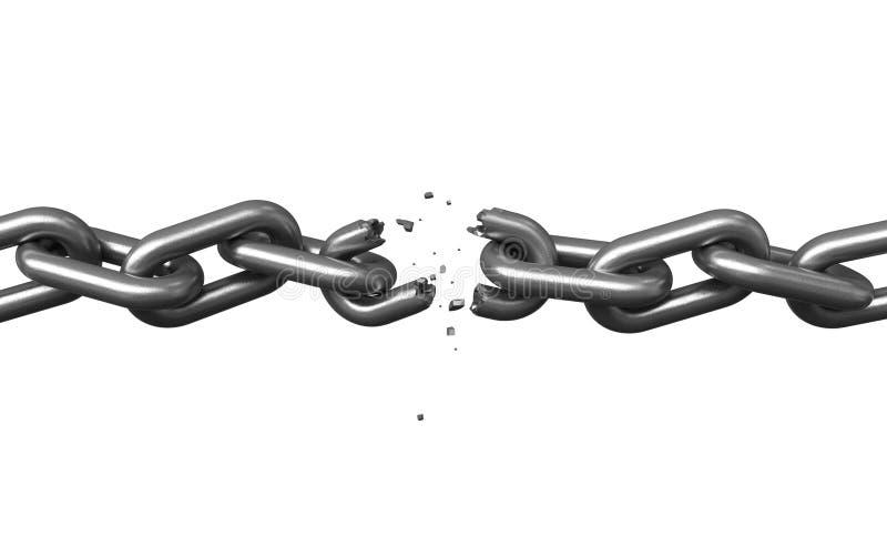 Broken chains vector illustration