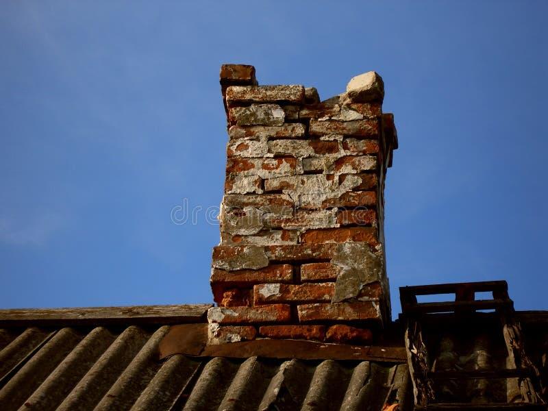 Broken chimney stock photo