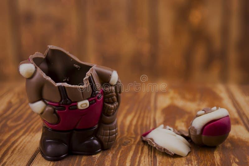 Download Broken Chocolate Santa Claus Stock Photo - Image: 83724726