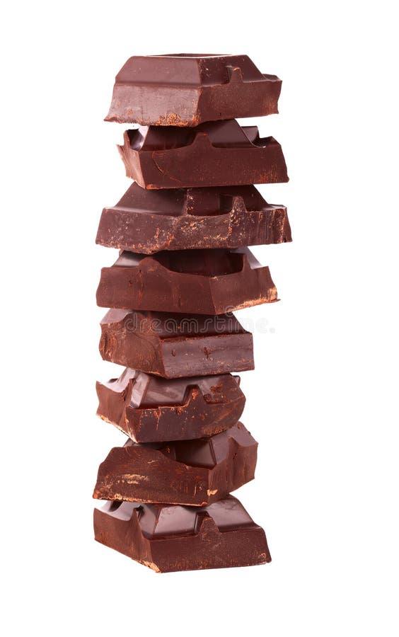 broken choklad arkivbilder