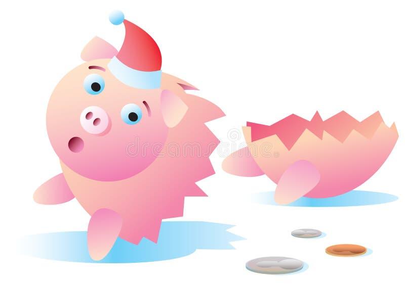 Download Broken Christmas Piggy Bank Royalty Free Stock Photo - Image: 27613505