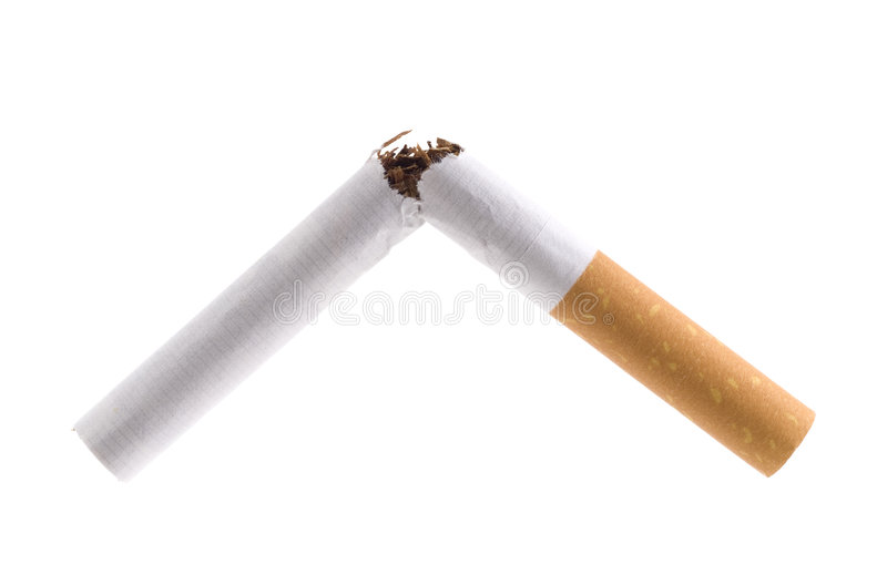 Broken Cigarette. royalty free stock photography