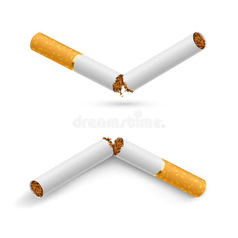 broken cigaretter royaltyfri illustrationer