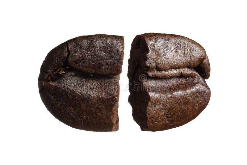 Broken coffee beans. royalty free stock photos