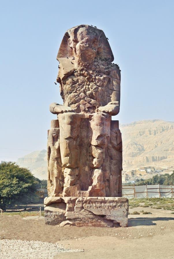 Broken coloss. Statue of pharaoh stock image