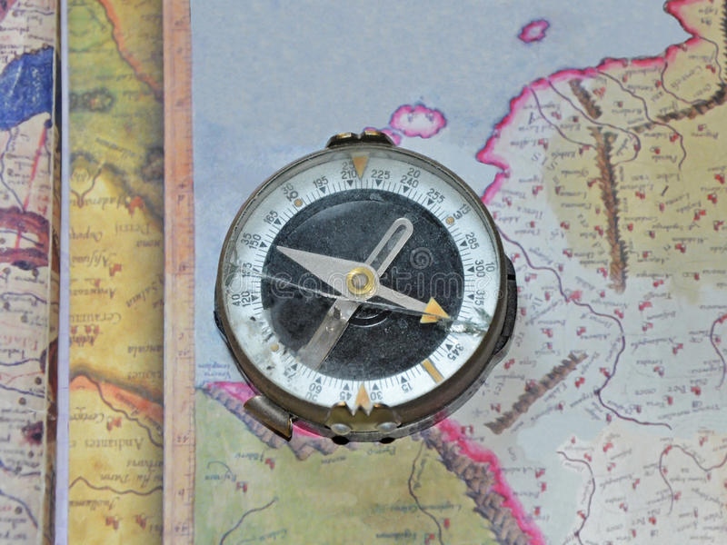 Broken compass royalty free stock photography